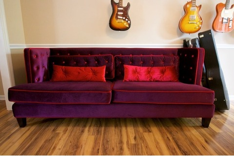 $250 Burgundy Modern NYC Couch!